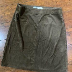 Max studio brown suede pencil skirt